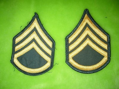 Staff Sergeant ärm rank US Army