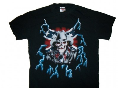 T-Shirt CSA rebel skull USA Thunder: L