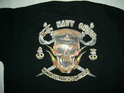 T-Shirt US Navy Honor Courage & Commitment: L