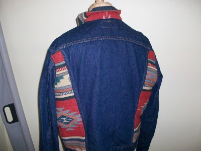 Jeansjacka Western Native Indian Navaho Levis´: XL