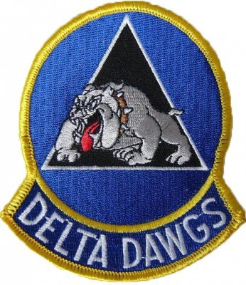 "Tygmärke Delta Force ""Delta Dawgs"""