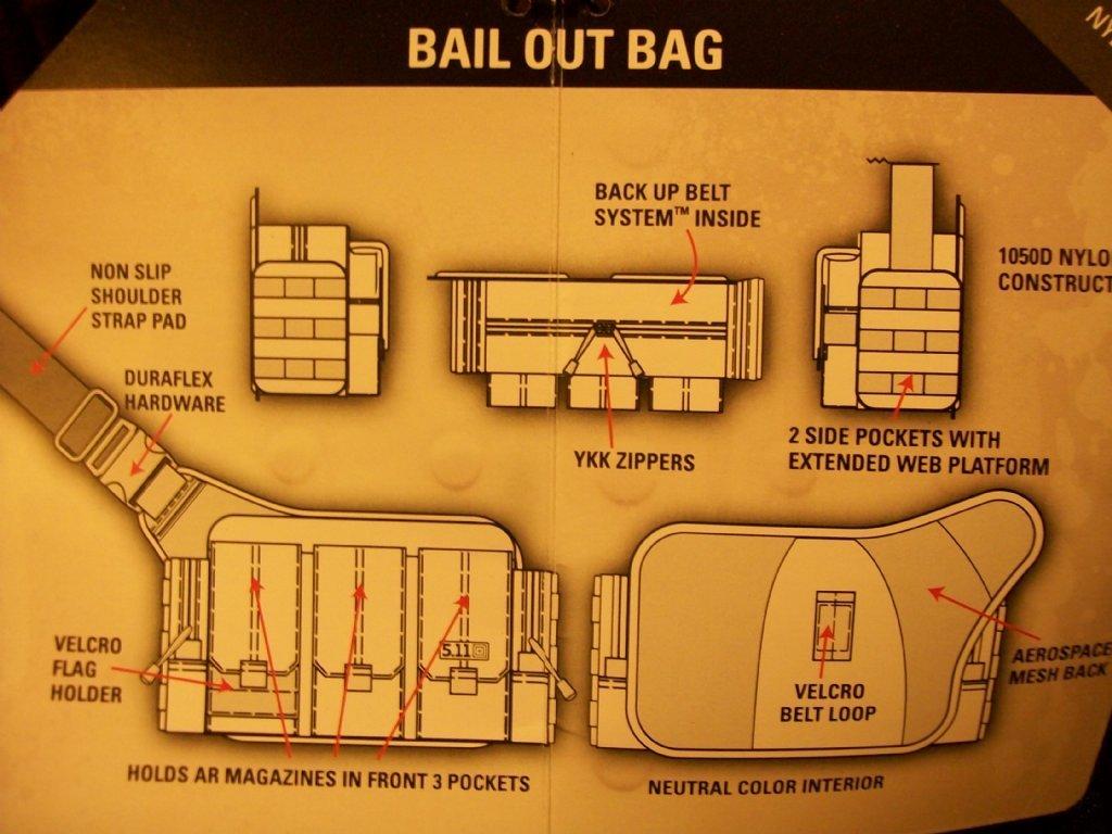 5 11 Tactical Bail Out Bag Black Ops Svart U S Black